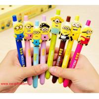 Wholesale Cute Korean Stationery Small Yellow People Gel Pen Kawaii Creative Colored Pens School from china suppliers
