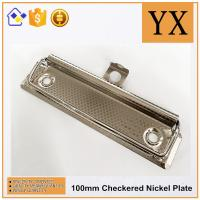 Wholesale Checkered Nickel Plate Metal 10 CM Clipboard Hardware Metal Clip from china suppliers