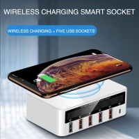 Wholesale QC3.0 PD18W Multi Port USB Charger With Digital Display from china suppliers