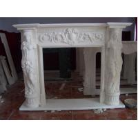 Wholesale Stone Fireplace mantel with lady statue from china suppliers
