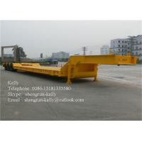 Quality 50 Tones Tri - Axle Concave Type Low Bed Semi Trailer with ramps for sale