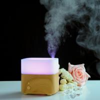 Quality 120ml Wooden Aroma Diffuser Ultrasonic aroma diffuser With 7 LED Color Changing For Home for sale