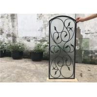Wholesale Rust Prevention Wrought Iron Glass Door Inserts , Hollow Iron Glass Doors from china suppliers