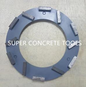 Quality Klindex MTS 200mm 12 Seg Concrete Marble Teerrazo Metal Bond Floor Diamond Grinding Plate for sale