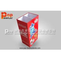 Wholesale Red Floor Standing Cardboard Dump Bin Display Box For Candy / Snacks from china suppliers
