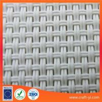 Wholesale white color solar sunshade fabric Textilene solar screens from china suppliers