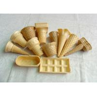 Wholesale Eco - Friendly Ice Cream Wafer Cups For Store / Supermarket , Custom Shape from china suppliers