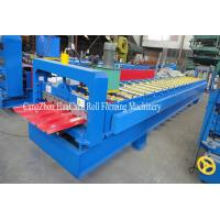 Galvanized Iron Plate Roofing Sheet Roll Forming Machine For 914mm Raw Material