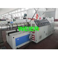 Quality Automatic Twin Conical  Screw WPC Extrusion Line / Equipment For Granules , SJSZ - 65 / 132 for sale