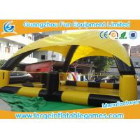 Wholesale Yellow / Black Inflatable Water Pool For Bumper Boats With Detachable Air Tents from china suppliers