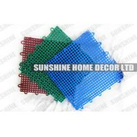 Buy cheap Colorful Recycled Polypropylene Interlocking Sports Flooring With Diamond Pattern from wholesalers