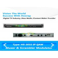 Wholesale IP QAM Modulator Cable TV Multiplexer & Scrambler Support  RF Slot card max 48 RF output from china suppliers