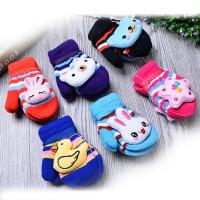 Wholesale High quality cute carton children warm knitting gloves from china suppliers