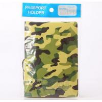 Quality Army Green Camouflage 3D Travel Passport Holder for sale