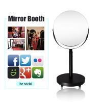 Buy cheap Open Air Party Light Booth Mirror Round Vintage Ring Light Photo Booth from wholesalers
