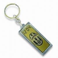 Wholesale Waterproof Solar-powered Keychain with Clock, Available in Customized Logos from china suppliers