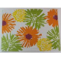 Buy cheap 2017 Colorful Flower Printed 250gsm Canvas Cotton Printed Dining Table Mats from wholesalers