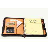 Quality Letter size A5 stationery folders PU LEATHER plastic poly portfolio organizer for sale