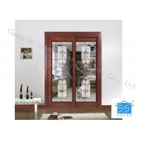 Quality Hollow Insulated Privacy Decorative Panel Glass Red Copper Thickness 25.4 MM for sale