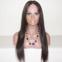 Wholesale Brazilian Human Hair Swiss lace Full Lace Wigs Natural Looking 8A grade Natural Color from china suppliers