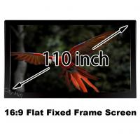 Wholesale Best Price 110inch HD Projection Screen 16:9 Straight Fixed Frame Projector Display from china suppliers
