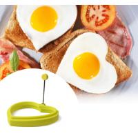 Wholesale Eco-friendly Heart Shaped Silicone Egg Ring Mould With Handle from china suppliers