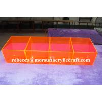 Wholesale Colorful plexiglass case 4 division acrylic food cabinet made in China from china suppliers