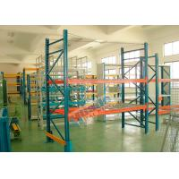 Wholesale Double Deep Pallet Racking System For Warehouse , Each Level Adjustable Pallet Racking Box Shape Beam from china suppliers