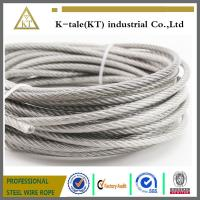 Quality AISI 304 316 7x19 ground wire Stainless Steel Wire Rope for external use for sale