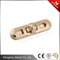 Wholesale 74.93*20.05mm Light gold bag turn lock,metal zinc alloy handbag turn lock from china suppliers