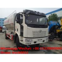 Wholesale HOT SALE! good price FAW brand 4*2 LHD 10tons bulk feed fodder transporting truck , electronic discharging feed truck from china suppliers