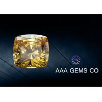 Wholesale 1.5 Carat Cushion Cut Moissanite Light Yellow a To AAAAA Grade from china suppliers