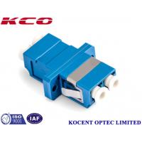 Wholesale Blue Fiber Optic Adapter LC/UPC With Flange, Without Dust Cap, Duplex from china suppliers