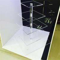 Wholesale Real Picture Clear Acrylic 4 Steps Cake Display Racks from china suppliers