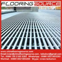 China 304 or 316 Stainless Steel Grilles Matting used for  high traffic entrance areas 1000 lbs 1,000 pound rolling load on sale