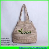 Wholesale LUDA Large canvas shopping bag enthic fabric lady shoulder tote bags from china suppliers