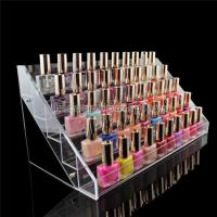 Wholesale Custom Logo Clear Acrylic Counter Display Racks 5 Step For Nail Polish Retailing from china suppliers