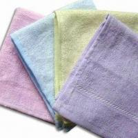 Wholesale Bamboo Face Towels, Measures 27 x 27cm, Anti-bacterial and Mite, Various Colors are Available from china suppliers