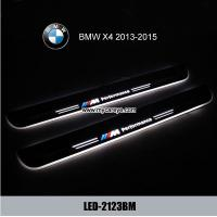 Wholesale BMW X4 auto parts retrofit LED moving lights for car door scuff from china suppliers