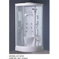 Wholesale White quadrant shower enclosure with hinged door ABS Material Bathtub from china suppliers