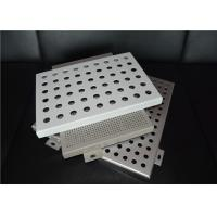 Wholesale OEM Laser Cutting Perforated Aluminum Sheet Metal Panels Acid - Resistant from china suppliers