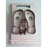 Buy cheap Sandals sole steel rule cutting dies China maker, flatboard Sandals sole steel dies from wholesalers
