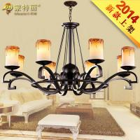 Wholesale Luxurious Wrought Iron Pendant Lighting/ Modern Candle Chandeliers for Coffee Bar from china suppliers