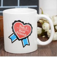 Quality Heart Morph Eco Friendly Mugs , Heating Color Change Magic Mug Printing for sale
