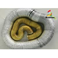 "Wholesale Smooth Golden Fireproof Flexible Vent Pipe 20"" Aluminum Foil High Performance from china suppliers"