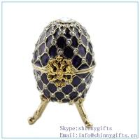 Wholesale free shipping coral faberge egg crystals trinket box_coral egg shaped trinket with rhinest from china suppliers