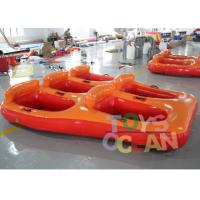 Wholesale 5 Person Donut Boat Inflatable Water Towable Tube Ski Boat For Jet Ski Water Fun from china suppliers