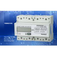 Wholesale Ligth Weight 35mm Din Rail Three Phase Energy Meter / Digital Meter Direct Mode With PC Material from china suppliers