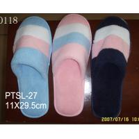 Wholesale Rainbow coral velvet hotel slippers of closed toe with 5mm EVA sole from china suppliers