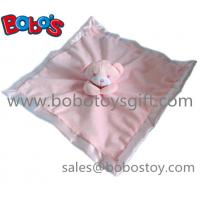 Wholesale High Quanlity Saft Plush Pink Bear Baby Toy Softest Baby Comforter Bib from china suppliers